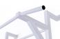 Ribstole kovové s hrazdou bílá hrazda detail