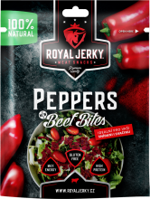 Royal Jerky Beef Bites Peppers 50 g